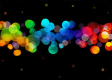 Rainbow bokeh Stock Photos
