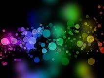 Rainbow bokeh Stock Image