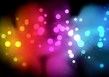 Rainbow Bokeh Background Stock Image