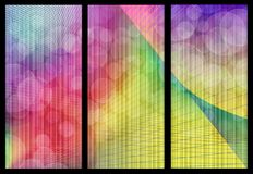 Rainbow bokeh banners. Abstract computer illustration rainbow texture for web templates or banners Stock Images