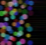 Rainbow bokeh lights. Merry christmas background with rainbow colours Stock Images