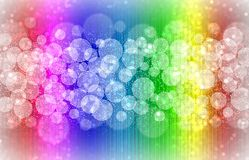 Rainbow bokeh lights Royalty Free Stock Images