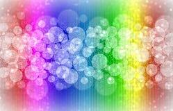 Rainbow bokeh lights Royalty Free Stock Images