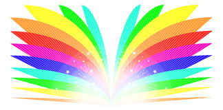 Rainbow Book Royalty Free Stock Photos