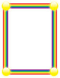 Rainbow Border Stock Photo