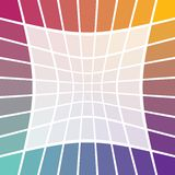 Rainbow border. Rainbow grid border illustration abstract square with blank space Royalty Free Stock Photo