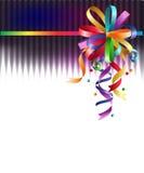 Rainbow bow. Stylish colorful background with rainbow bow Stock Photo