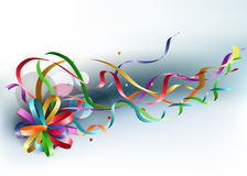 Rainbow bow. Stylish colorful background with rainbow bow and ribbons Royalty Free Stock Images