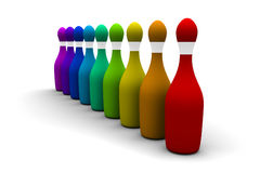Rainbow bowling Stock Images