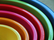 Rainbow bowls Royalty Free Stock Photos