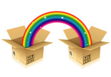Rainbow from Box Royalty Free Stock Images