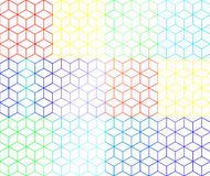 Rainbow boxes. Give some presents for you Royalty Free Stock Image