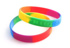Rainbow braclet Stock Photo
