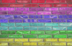 Rainbow brick Stock Photos