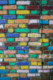 rainbow brick wall Royalty Free Stock Photo