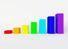 Rainbow bricks Royalty Free Stock Image