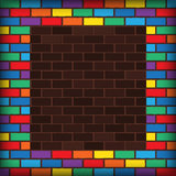 Rainbow bricks Stock Photography