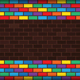 Rainbow bricks Royalty Free Stock Photography