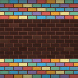 Rainbow bricks Royalty Free Stock Images