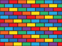 Rainbow bricks pattern Royalty Free Stock Images