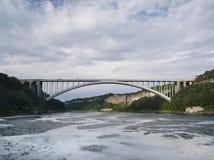 Rainbow Bridge. Over the Niagara River. Frontier between Canada and the USA Royalty Free Stock Photos