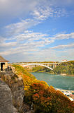 Rainbow Bridge. At Niagara Falls Stock Images
