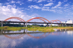 Rainbow Bridge. China Shenzhen, Guangdong Province, a bridge, because of its shape like a rainbow, so called Rainbow Bridge Royalty Free Stock Photos