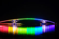 Rainbow Bridge. Penghu Penghu Fireworks Festival is the year's most well-known large-scale tourist activities in the country, the name of the first International Stock Photo