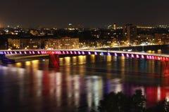 Rainbow bridge 2. Rainbow bridge in Novi Sad-Petrovaradin Stock Photo