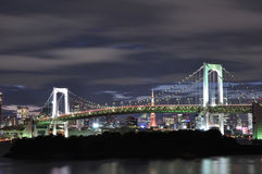 Rainbow bridge. With Tokyo tower behide stock photos