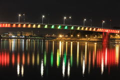 Rainbow bridge. In Novi Sad Royalty Free Stock Photos