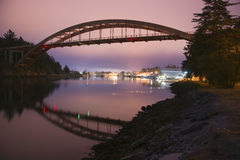 Rainbow Bridge Connects LaConner to Reservation royalty free stock photos