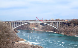 Rainbow Bridge above Niagara River. The arch bridge between the United States of America and Canada Stock Photography