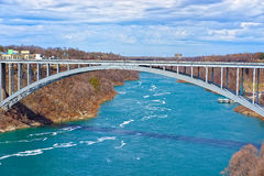Rainbow Bridge above Niagara River Gorge Stock Image