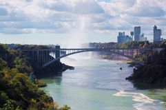 Rainbow Bridge and Canada. Full view picture of Rainbow Bridge and A bit of Canada as well Stock Photos