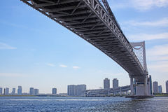 Rainbow Bridge and city view of Odiba Royalty Free Stock Images
