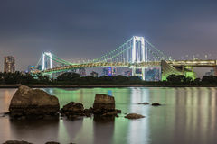Rainbow Bridge. The Rainbow Bridge connects Odaiba to the rest of Tokyo Royalty Free Stock Photo