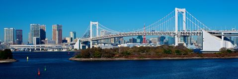 Rainbow Bridge during the day Royalty Free Stock Photos