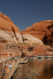 Rainbow Bridge Dock. For Tourists At Lake Powell royalty free stock photos
