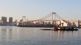 Rainbow bridge in the early morning Royalty Free Stock Photo