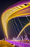 Rainbow bridge on the Fenhe river Royalty Free Stock Image