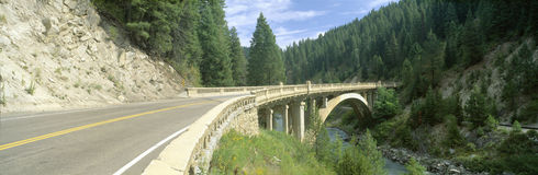 Rainbow Bridge, Highway 55, Payette River, Smith Ferry, Idaho Stock Photography