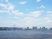 Rainbow Bridge in Japan  royalty free stock photography