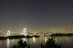 Rainbow bridge with liberal monument at Tokyo, Japan Stock Images