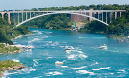 Rainbow Bridge in Niagara Falls  Stock Images