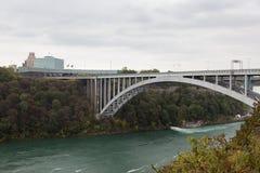 The Rainbow bridge at the Niagara Falls, Canada. The Rainbow Bridge over the Niagara River connecting Niagara Falls Ontario Canada to Niagara Falls New York USA Stock Photography