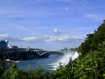 Rainbow bridge Niagara Falls Stock Photo