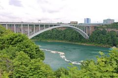 Rainbow Bridge, Niagara Falls Stock Images
