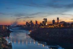 Rainbow bridge at Niagara Falls, USA Stock Images