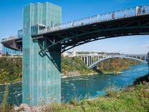 Rainbow bridge at Niagara Falls, USA Stock Photography